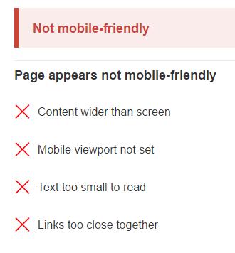 Googlebot Mobile Test Fail